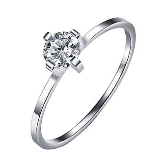 Silver Plated Ring With Zirconia Ch1082