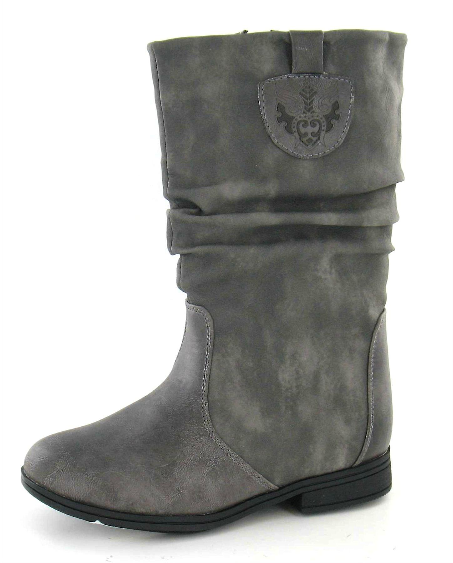 Cutie Low Heel Rouched Boot
