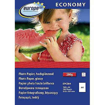 Photo paper Europe 100 Economy Photo Paper Glossy EPC004 DIN A4