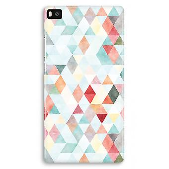 Huawei Ascend P8 Full Print Case - Coloured triangles pastel
