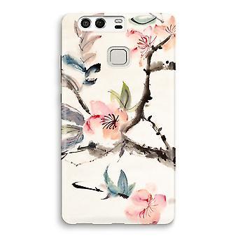 Huawei P9 imprimir completo caso - flores de Japenese