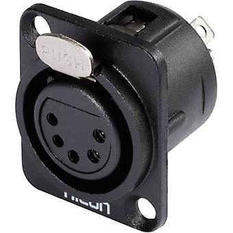 XLR connector Sleeve socket, straight pins Number of pins: 5 Black Hicon HI-X5DF-M 1 pc(s)