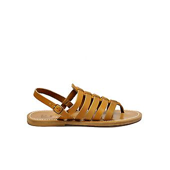 K Jacques men's HOMEREHSINGLEPUL brown leather sandals