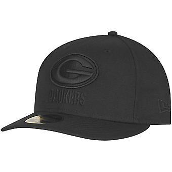 New Era 59Fifty LOW PROFILE Cap - Green Bay Packers schwarz
