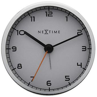 Nextime Alarm Clock 9X9X7,5 Cm Metal White Company Alarm (Decoration , Clocks)