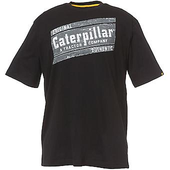 CAT Workwear Mens Parallelogram 100% Cotton Graphic Logo T-Shirt