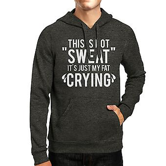 Fat Crying Unisex Cool Grey Pullover Hoodie Work Out Hooded Sweat