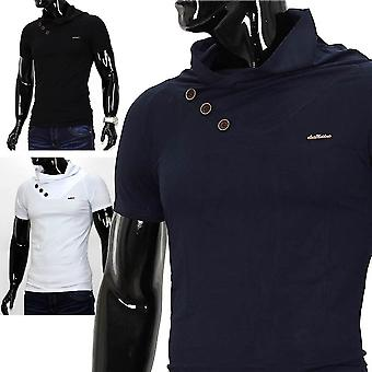 Men Metro Style T-Shirt V-Neck Polo stretch Slimfit Japan Style Clubwear Shirt