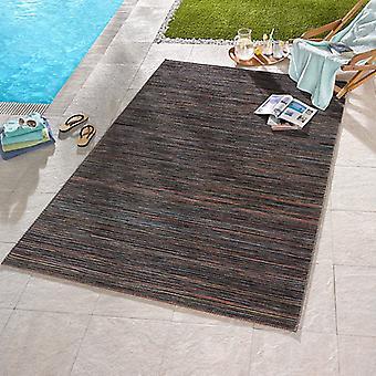 Design Outdoorteppich Lotus brun Orange blå melliert | 102447