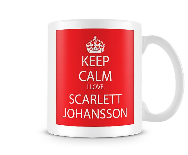 Keep Calm I Love Scarlett Johansson Printed Mug