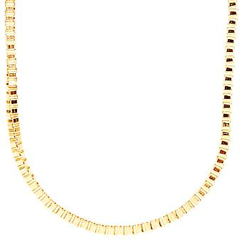 Iced out bling fashion SLIM box chain - 3mm gold 60cm