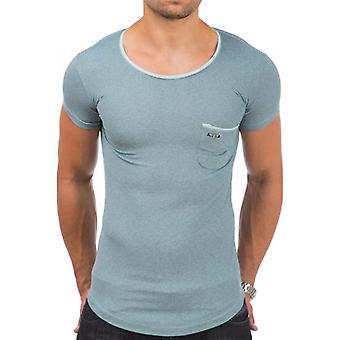 TAZZIO men's T-Shirt with Royal Blue neck