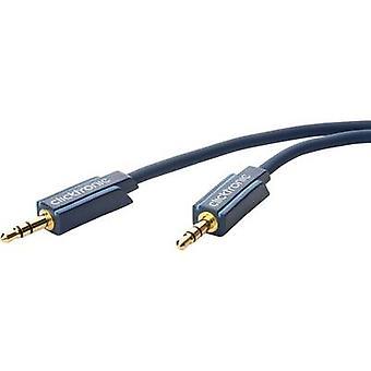 clicktronic Jack Audio/phono Cable [1x Jack plug 3.5 mm - 1x Jack plug 3.5 mm] 10 m Blue gold plated connectors