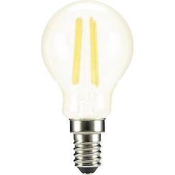 Sygonix LED E14 Droplet 4 W = 37 W Warm white (Ø x L) 45 mm x 84 mm EEC: A++ Filament 1 pc(s)