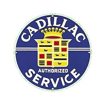 Cadillac Service Enamelled Steel Fridge Magnet