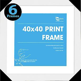 Poster de blanc Art Print affiches 6 GB cadres 40x40cm Bundle