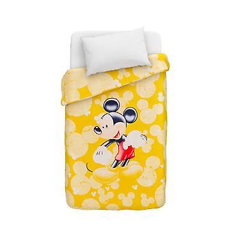 Disney Mickey Mouse Dekbedovertrek Caleffi puzzels geel