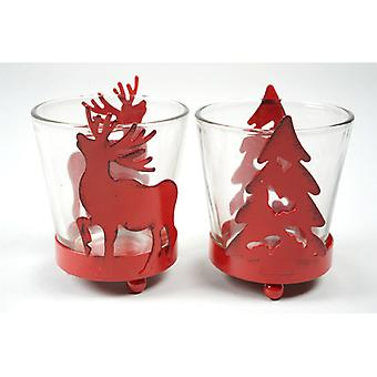 Rouge de Noël bougie titulaire