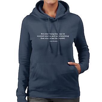 Nicht alles was zählt Albert Einstein gezählt werden kann zitieren Damen Sweatshirt mit Kapuze