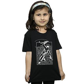 آعجوبة الفتيات صورة ظلية متهور تي شيرت