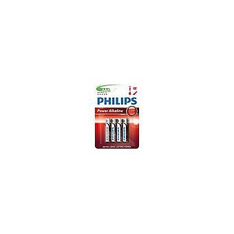 Philips Powerlife alkaliska LR03 AAA batteri 4st