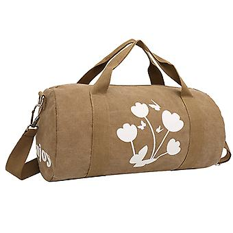 Brown weekend bags made or sports bag in hardwearing fabric