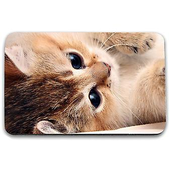 i-Tronixs - Cat Printed Design Non-Slip Rectangular Mouse Mat for Office / Home / Gaming - 5