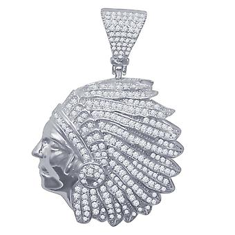 925 sterling silver micro pave pendants - Indians