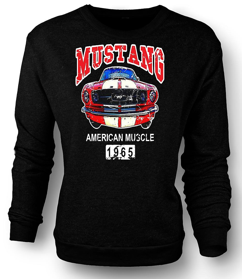 Mens Sweatshirt Mustang 65 Muscle - Car - Classic US Car