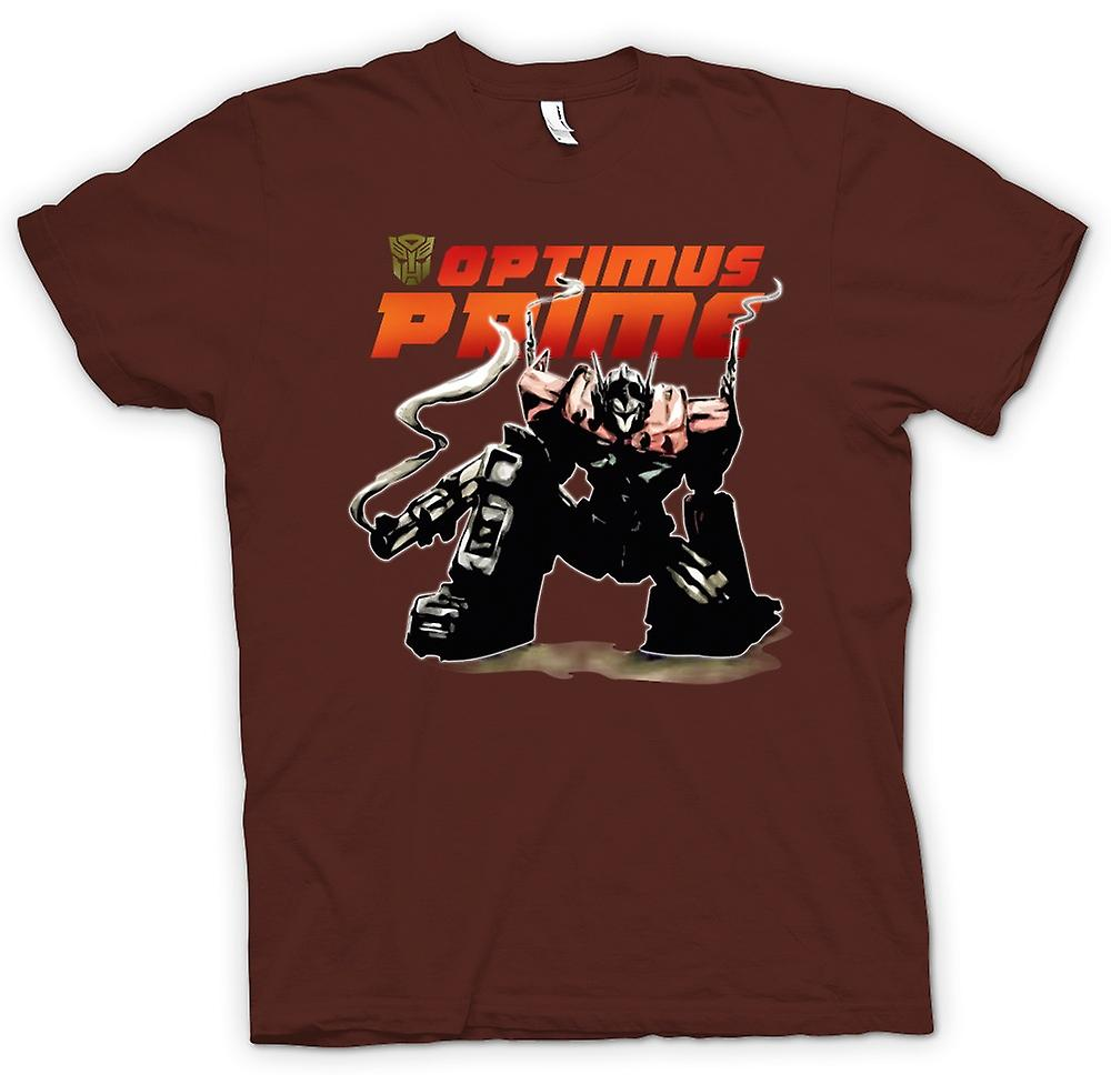 Hommes T-shirt - Transformateurs Optimus Prime Accroupi