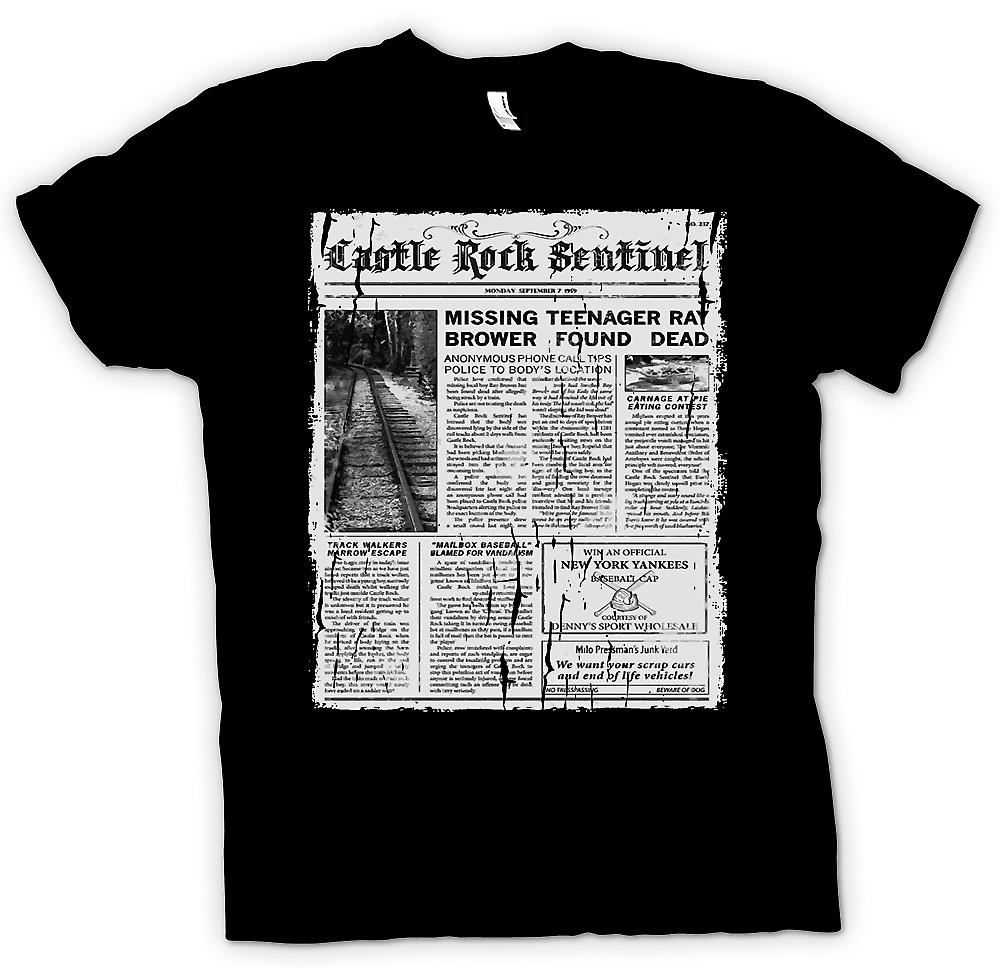 Mens T-shirt - Castle Rock Sentinel - Stand By Me Inspired