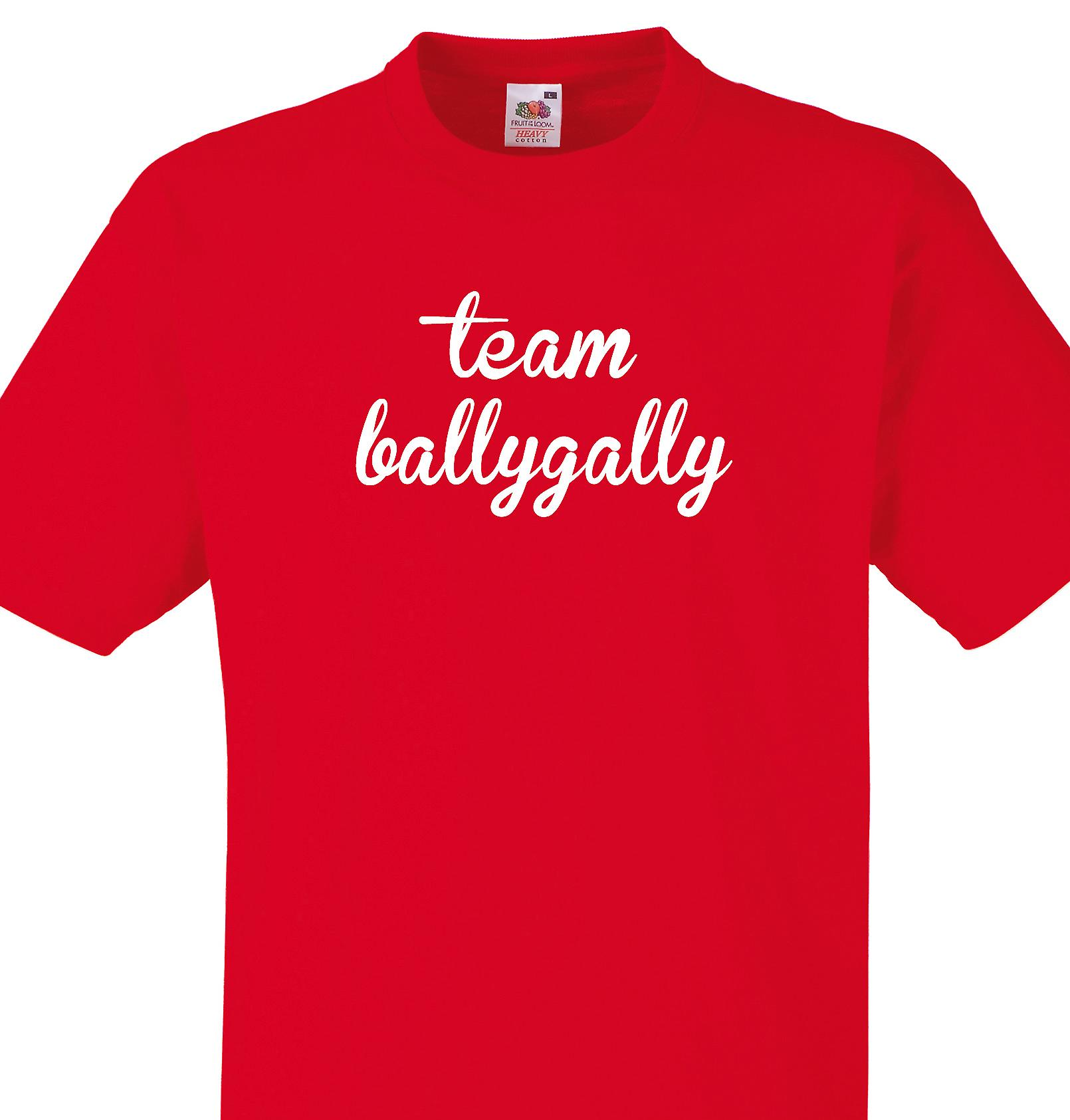 Team Ballygally Red T shirt