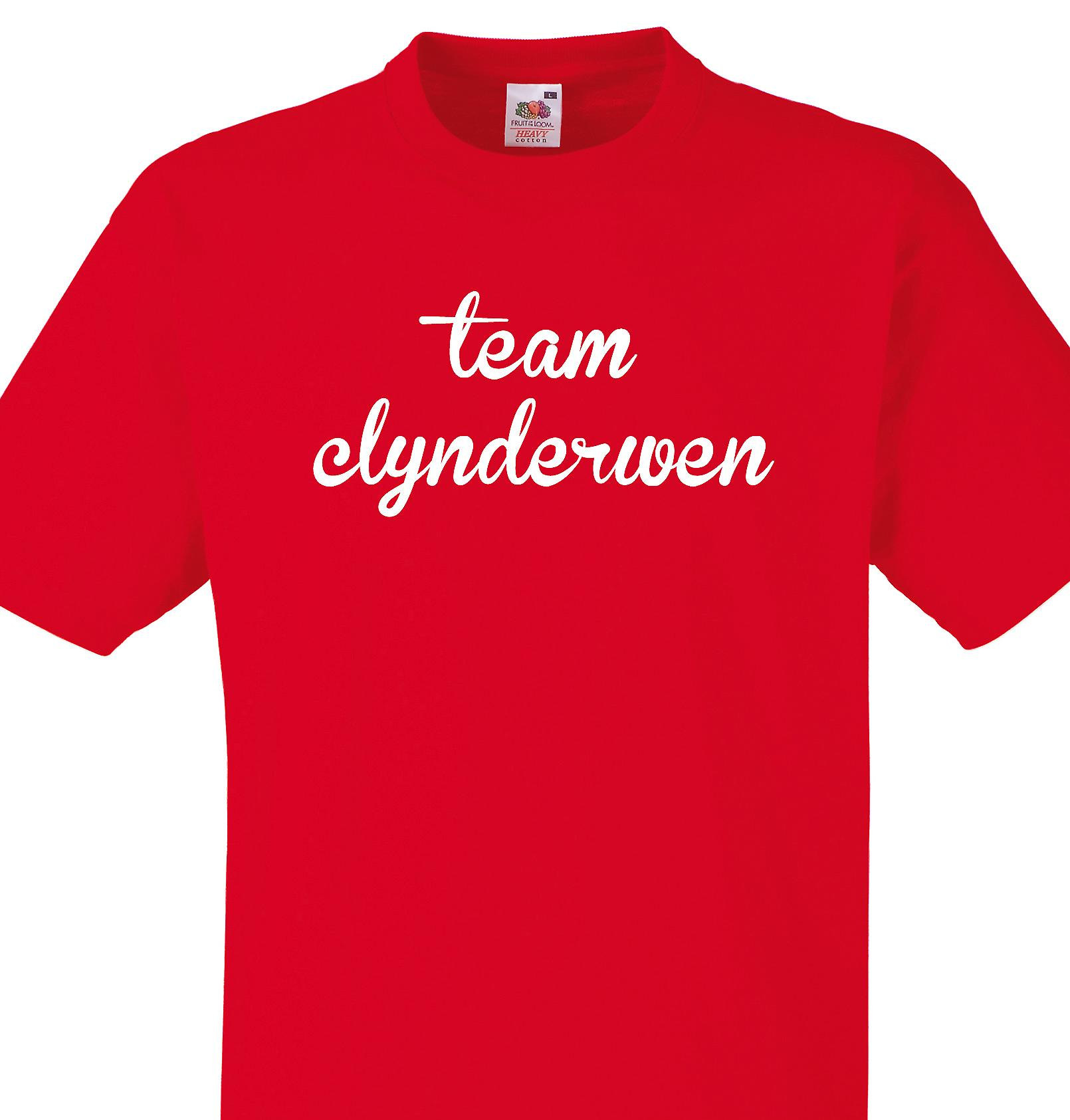 Team Clynderwen Red T shirt