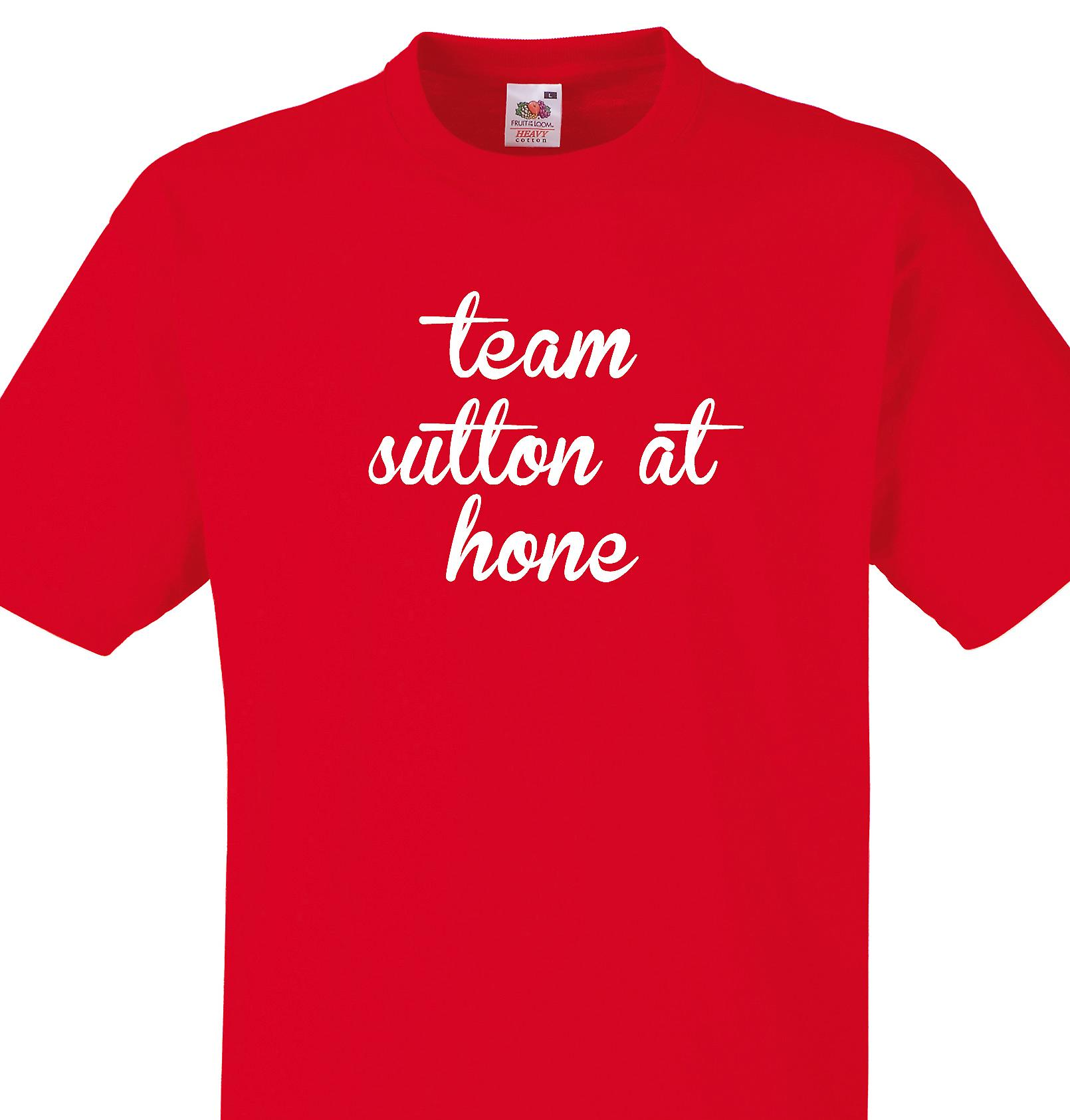 Team Sutton at hone Red T shirt