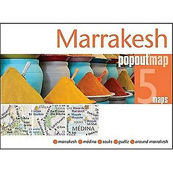 Marrakesh Popout Map - handy pocket size pop-up city map of Marrakesh (Popout Maps)