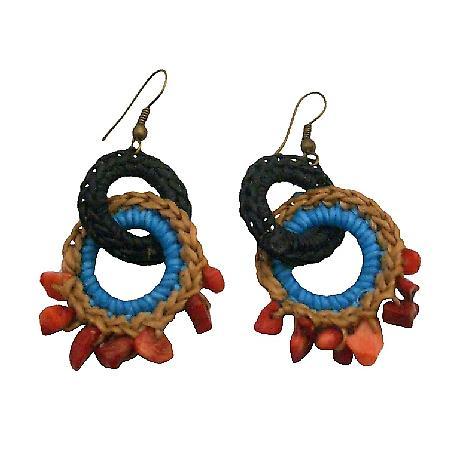 Boho Crochet Black Latte Turquoise Fabulous Jewelry Tremendous Price