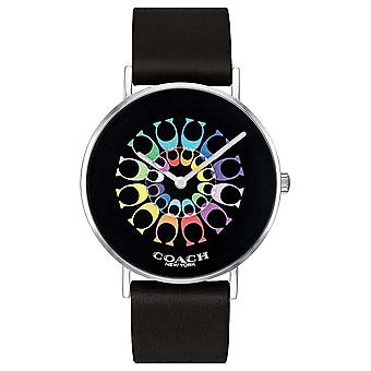 Coach | Womens Perry | Black Leather Strap Black Dial | 14503289 Watch
