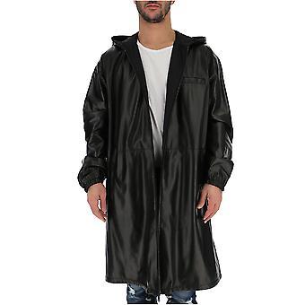 Prada Black Leather Coat