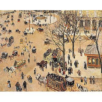 La Place du Theatre Franqais, Camille Pissarro, 50x40cm
