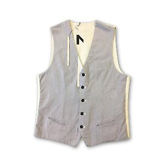 Blue Blood 'Heaton' waistcoat in blue and white