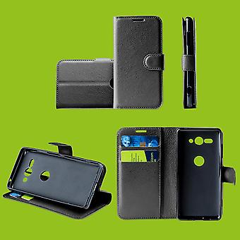 For Huawei P smart plus 2019 Pocket wallet premium black protective sleeve case cover pouch new accessories
