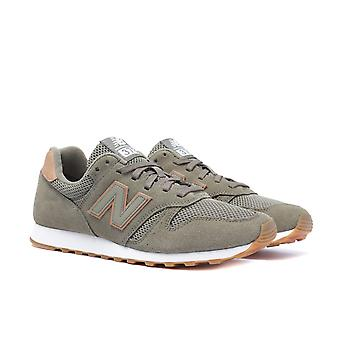 New Balance 373 Khaki Suede Trainers
