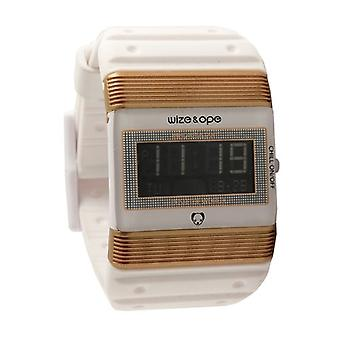 Wize and Ope Seventy Seven  White and Gold Digital  Watch WO-77-2