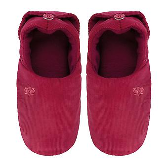 Ladies Aroma Home Cranberry Scented Microwavable Slippers