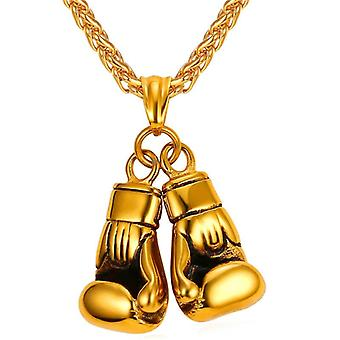 U7 Boxing Necklace-Gold