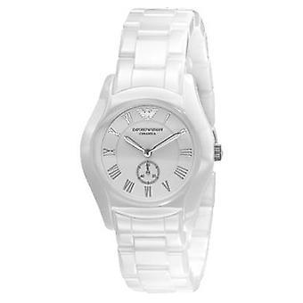 Emporio Armani Ar1405 Ladies White Ceramic Round Dial Watch