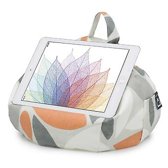 IPad, tablet & ereader bean bag stand-by ibeani - ovale orange & gris