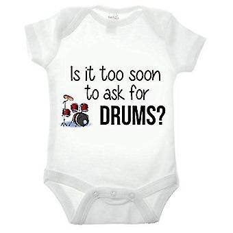 Is it too soon to ask for drums short sleeve babygrow