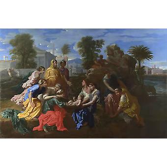 The Finding of Moses,Nicolas Poussin,60x40cm