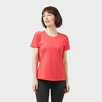 New adidas Women's Trail Cross Short Sleeve T-Shirt Pink